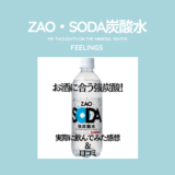 ZAO,SODA,炭酸水,感想,口コミ,味,レビュー